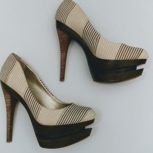 Women's Jessica Simpson Wood Platform Pumps